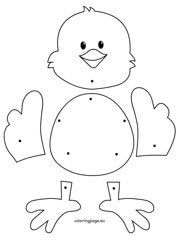 Easter chick crafts preschool 1 year old classroom ideas for Easter chick templates free