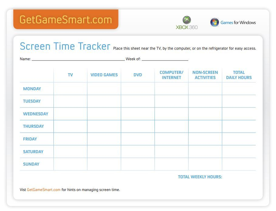 A Screen Time Tracker Is Great For Back To School Time. Helps Your Kids  Balance School Work, Free Time, And Screen Time.