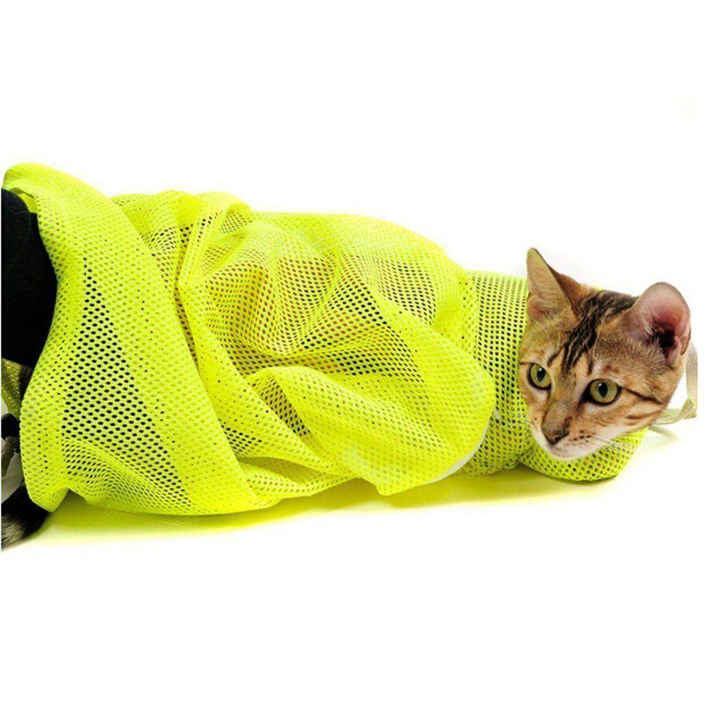 OLizee™ Adjustable Polyester Mesh Cat Grooming Bag Dog