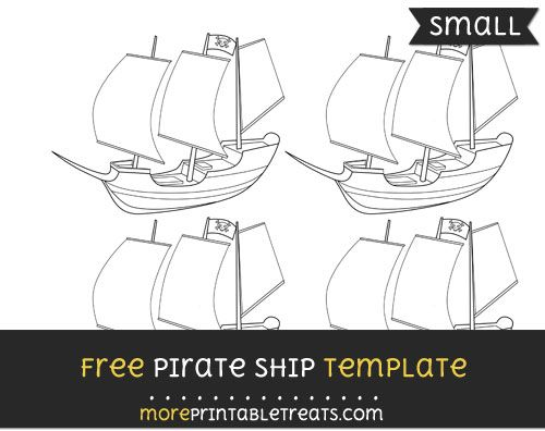 free pirate ship template small