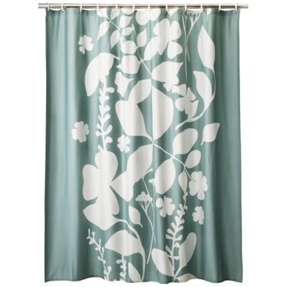 Room 365 Overlapping Leaves Shower Curtain Green 72x72