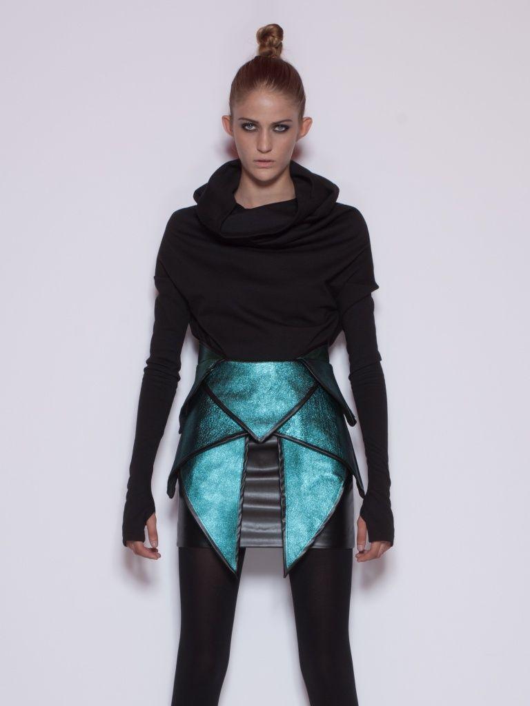future fashion futuristic clothing achilles skirt by