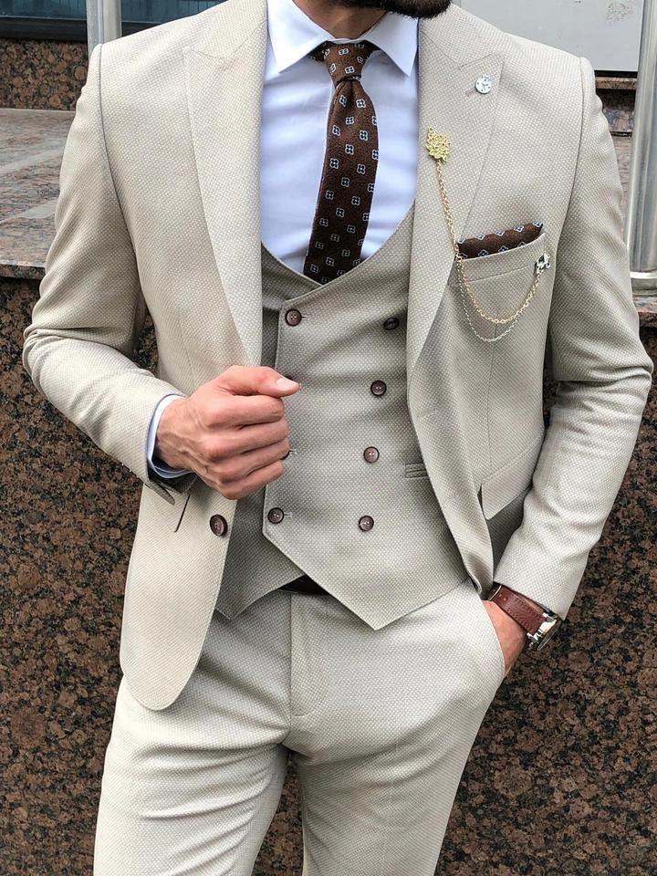 Beige Summer Suit Dress Yy