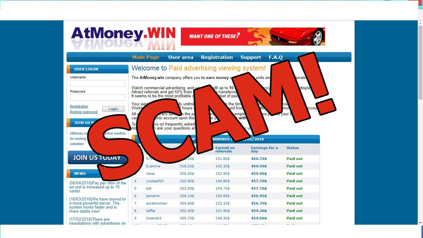 Atmoney Win Is Like A Pay Per Click Program Which Can Let You Earn 10