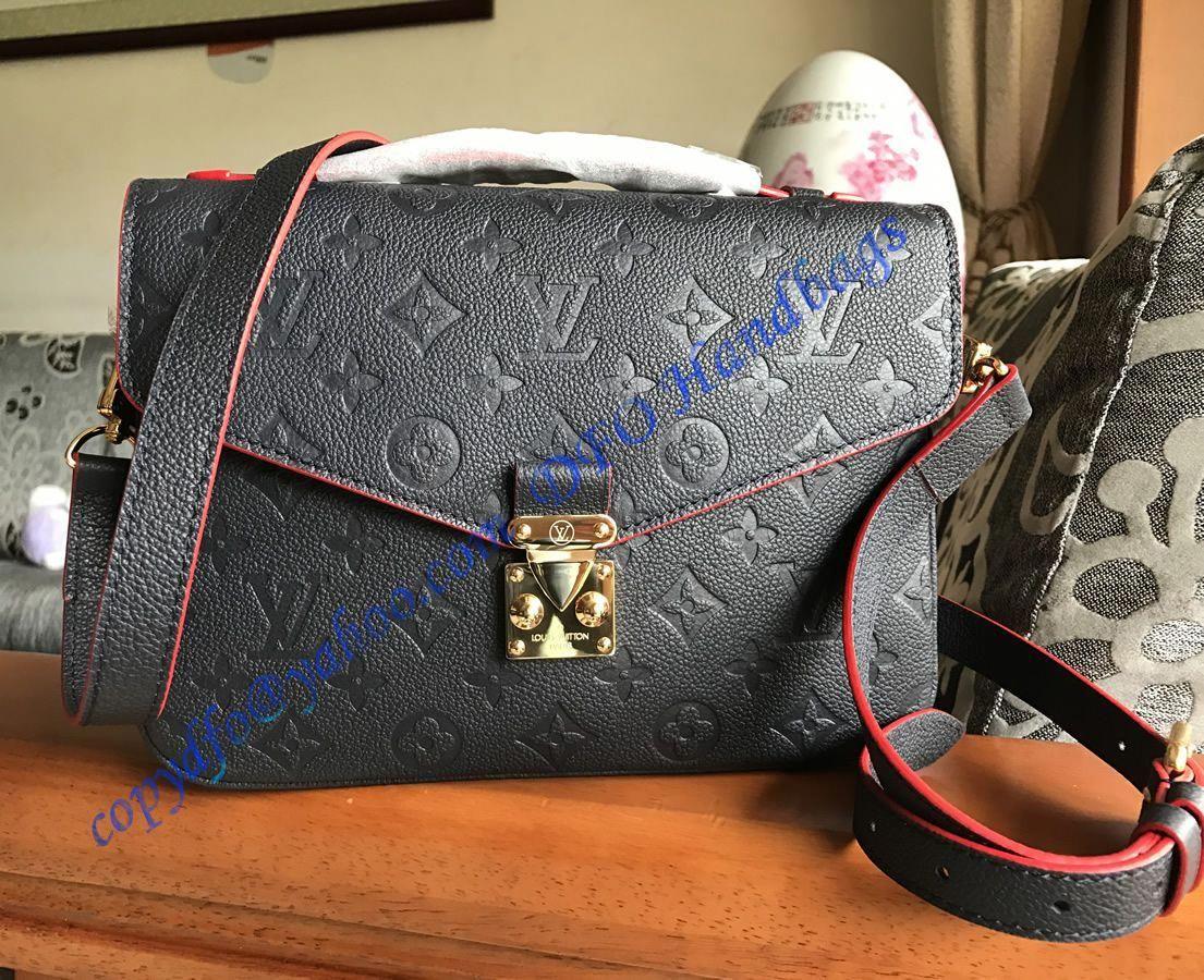Louis Vuitton Monogram Empreinte Pochette Metis Blue Black   Louisvuittonhandbags fe1e9e551c7