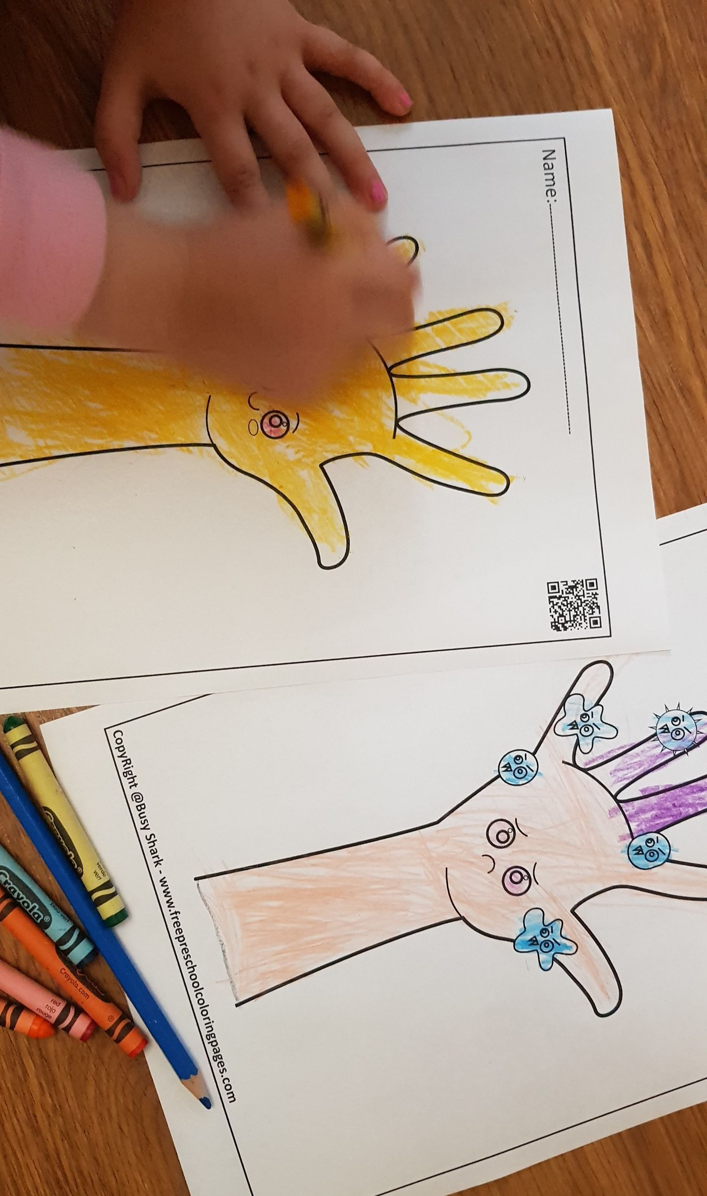 Hand Washing Free Preschool Coloring Pages Free