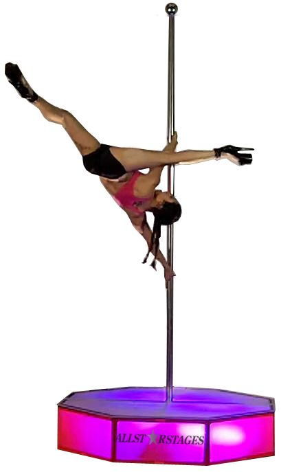 All Stars Stages Portable Stripper Pole Rentals in Los Angeles. All Stars Stages Portable Stripper Pole Rentals in Los Angeles   4