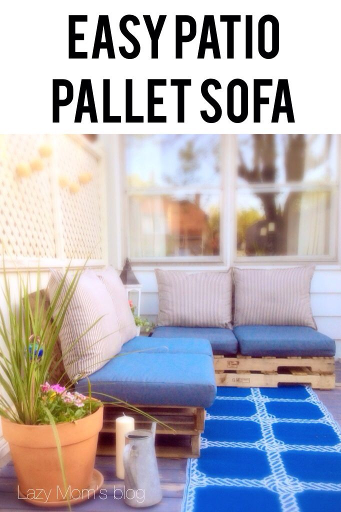 Build Your Patio Pallet Sofa Easy To Follow Step By Guide For An Store