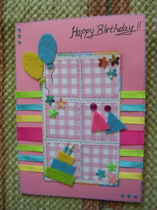 37 Homemade Birthday Card Ideas And Images Pinterest Simple