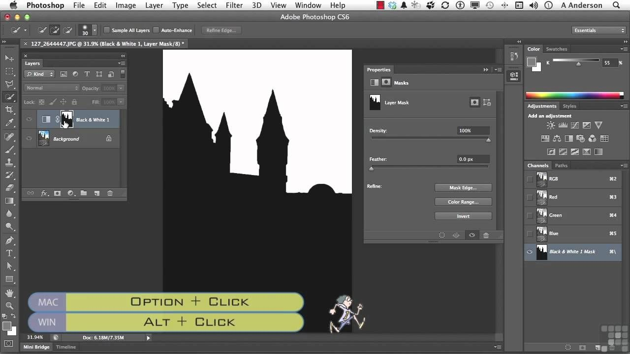 Adobe CS6 Tutorial Adjustment Layers and Masks