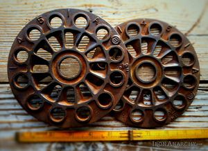 Vintage Foundry Molds For Sale Decorative Antique Industrial Iron Gear 399 00 Sold Out Large Antique Industrial Chic Decor Industrial Gears Industrial Decor
