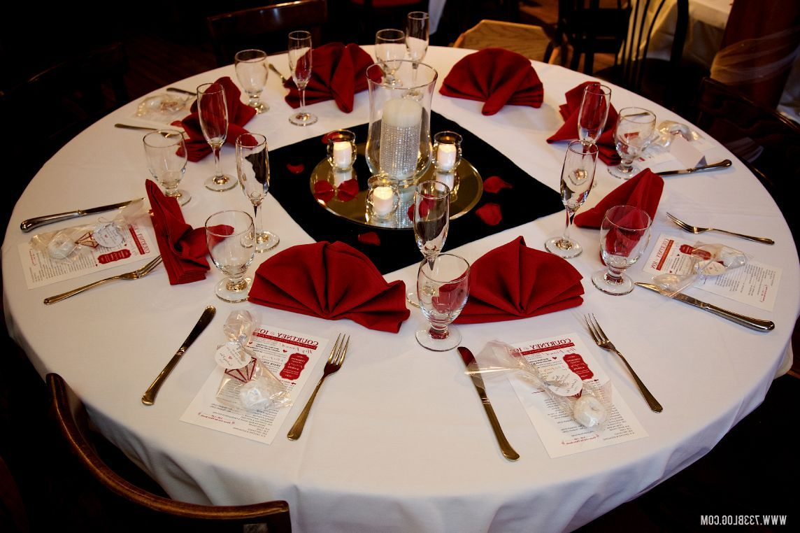 Red White And Black Wedding Centerpieces Red And Black Wedding