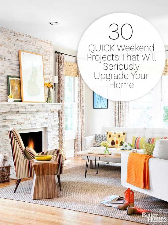Spiff up every space in your home. Here are 23 quick do-it-yourself ...