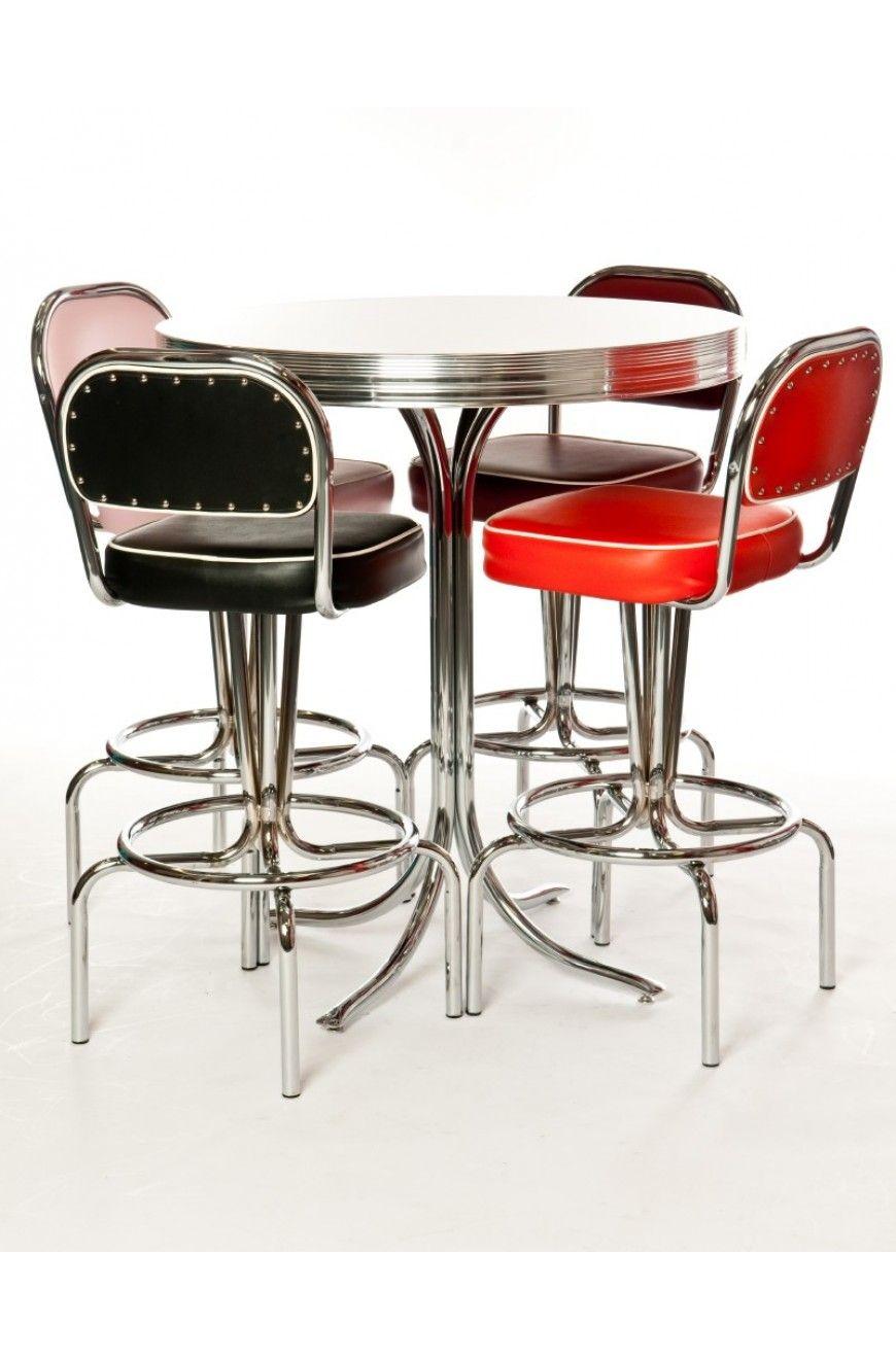 Manhattan Bar Table & Stools | Retro Mid-century Modern Decor ...