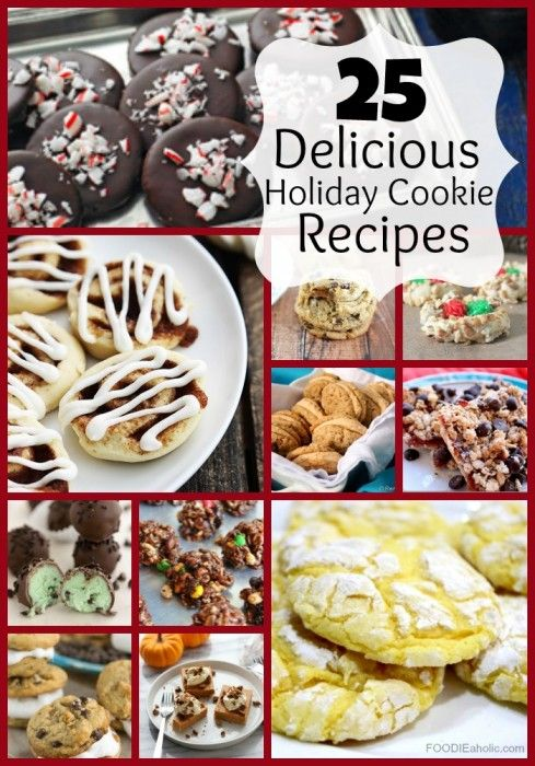 25 Delicious Holiday Cookie Recipes | FOODIEaholic.com #recipe #cooking #baking #dessert #cookies #treats #bars #holiday