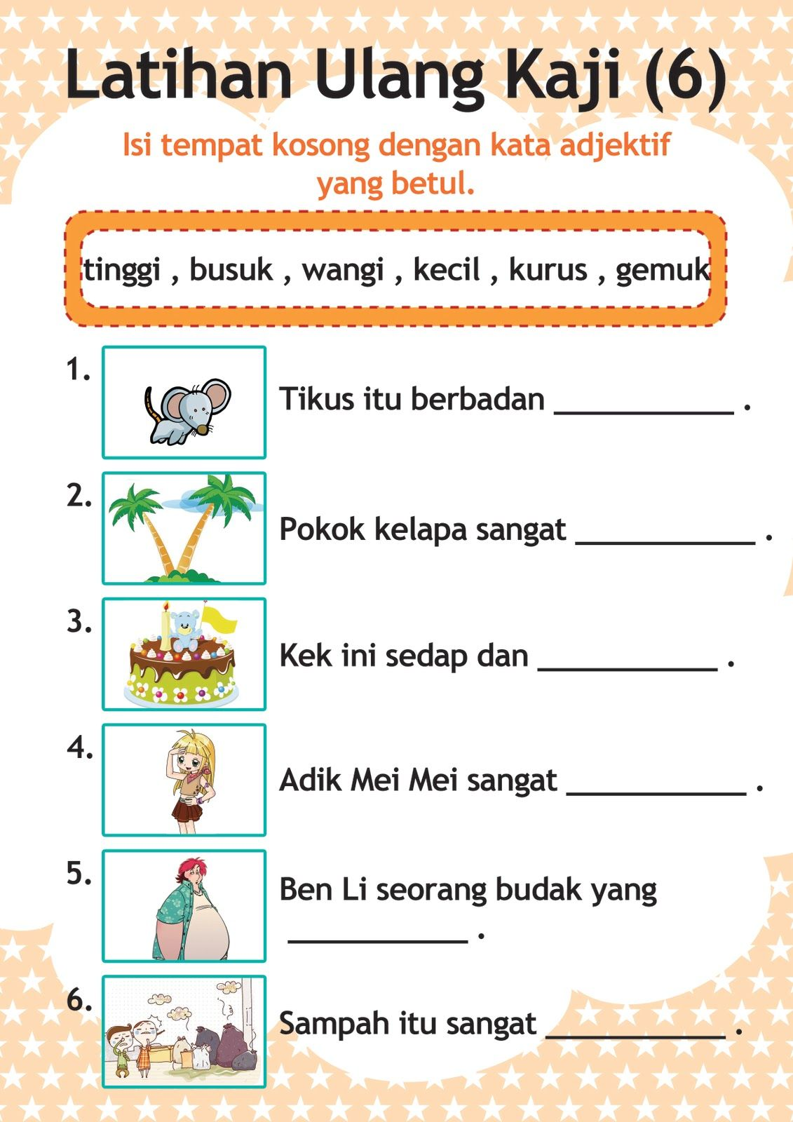 Worksheets Worksheet-bahasa-indonesia-tk latihan bahasa malaysia tahun 1 google search bm thn search