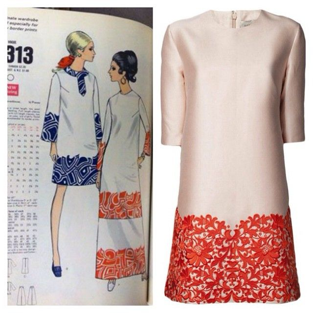 Proof that everything eventually comes back again. Stella McCartney dress & 1969 #voguepattern.