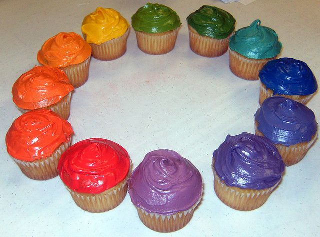 Cupcake Color Wheel
