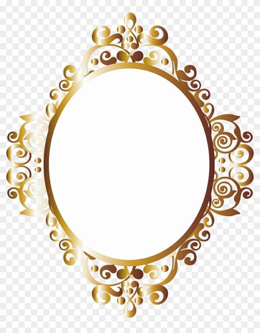 Pin De Tatiana Em 11 Anos Moldura Dourada Png Molduras Douradas Moldura Arabesco Png