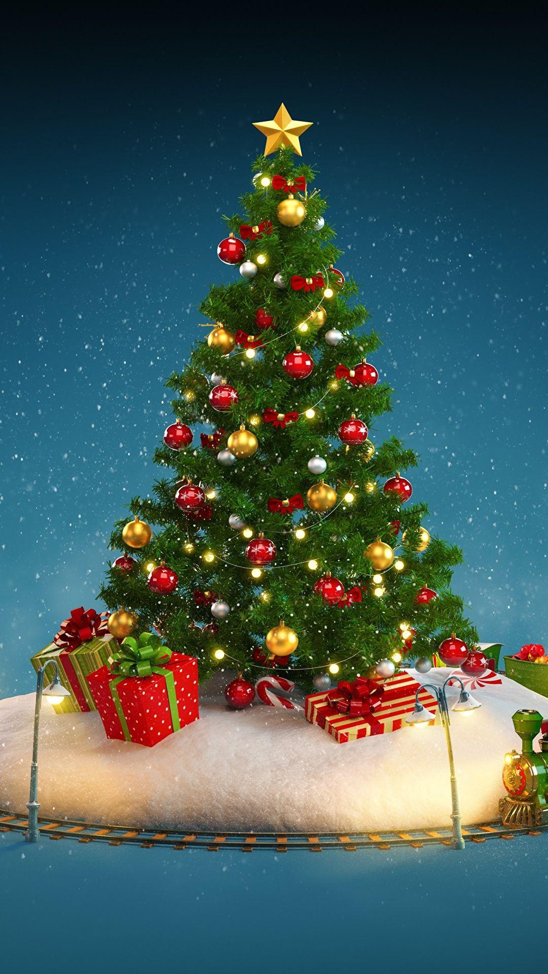 Fond Pour Mobile De Noel Sapin De Noel Avec Cadeaux Fond D Ecran De Noel Pour Iphone Et Android Belles Images De Noel Fond Ecran Noel Deco Noel