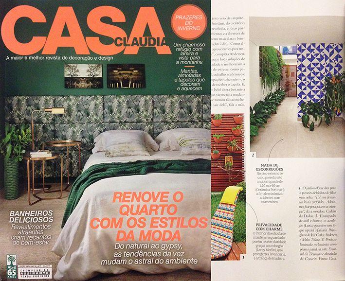 Revista Casa Claudia | Julho 2015 // Shop Online www.lurca.com.br/ #azulejos #azulejosdecorados #revestimentos #arquitetura #interiores #decor #design #sala #reforma #decoracao #geometria #casa #ceramica #architecture #decoration #decorate #style #home #homedecor #tiles #ceramictiles #homemade