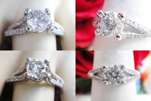 1.06CT Round Brilliant Diamond Engagement Ring EGL Cert/Appr $3k