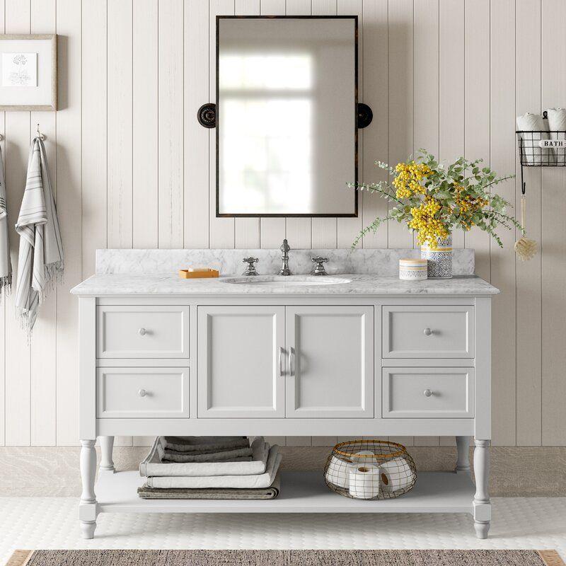 Beverly 60 Single Bathroom Vanity Set In 2020 Single Bathroom Vanity Bathroom Floor Plans Vanity