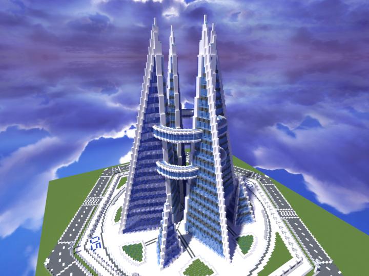 Quartz Tower 5 Minecraft Project Cool minecraft
