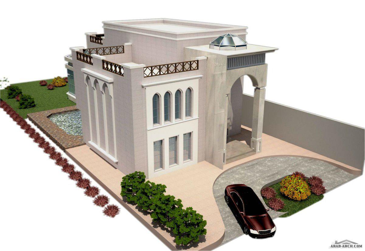 صور واجهات فلل رائعه مودرن و كلاسيك 3d House Plans Home Building Design Home Stairs Design