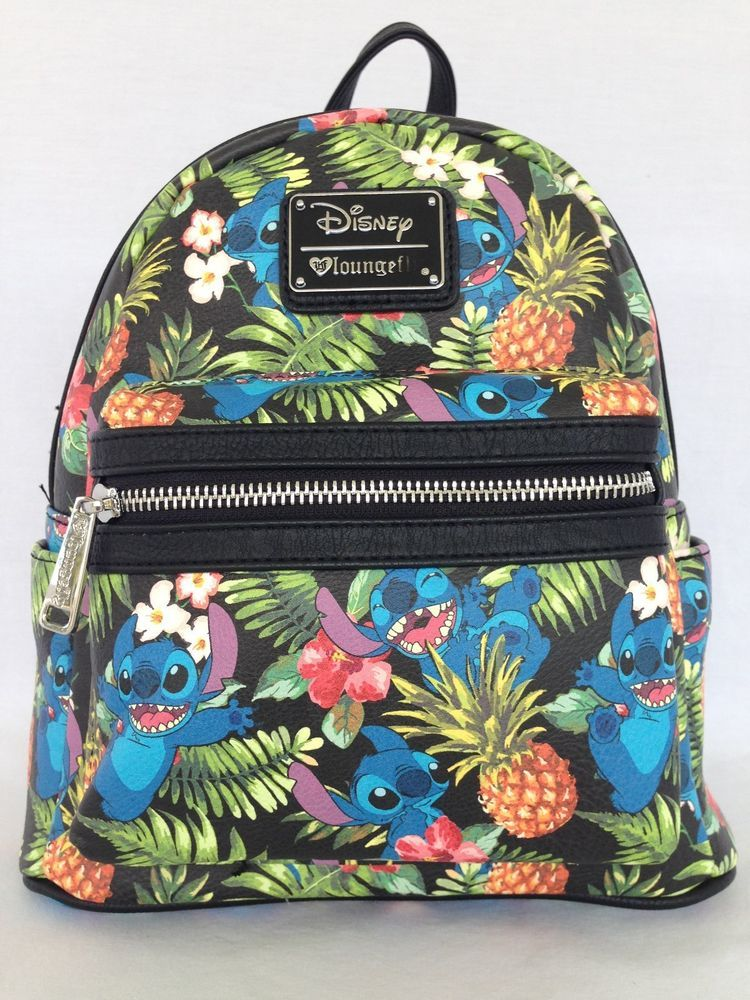 766a8806a5b DISNEY BOUTIQUE STITCH MINI BACKPACK BY LOUNGEFLY FOR DISNEY PARKS NWT   Disneyana  Disney