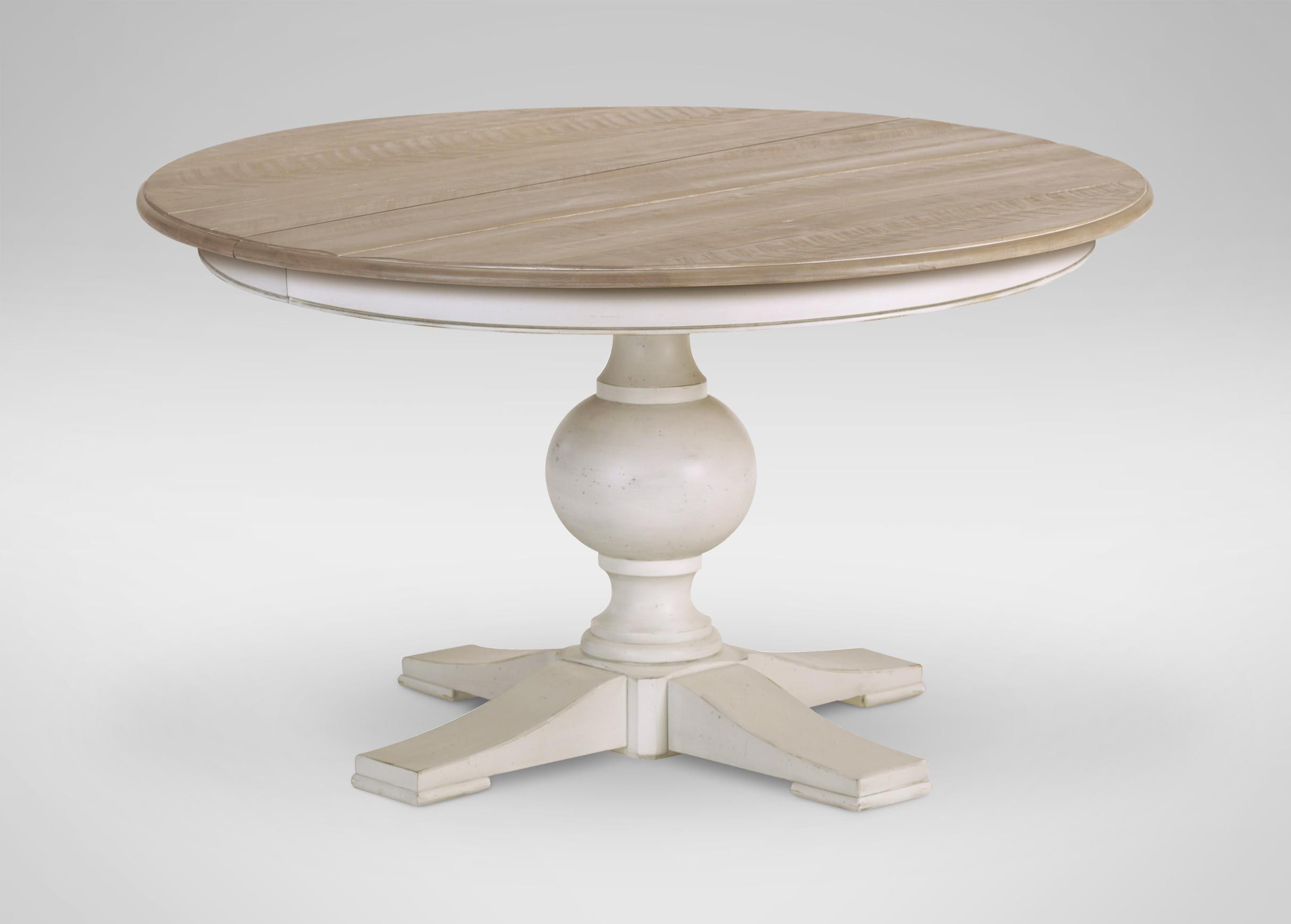 Painted round dining table  Cooper Rustic Dining Table  Roughsawn Dakota  Cotton