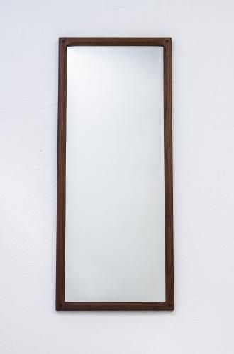 Protea Dressing room? Teak Mirror by Kai Kristiansen for Aksel Kjersgaard, 1950s for sale at Pamono 43.5cm wide x 105cm high