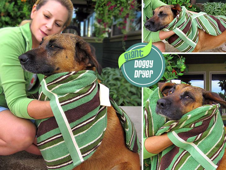 Giant Towel Doggy Dryer   Sew4Home