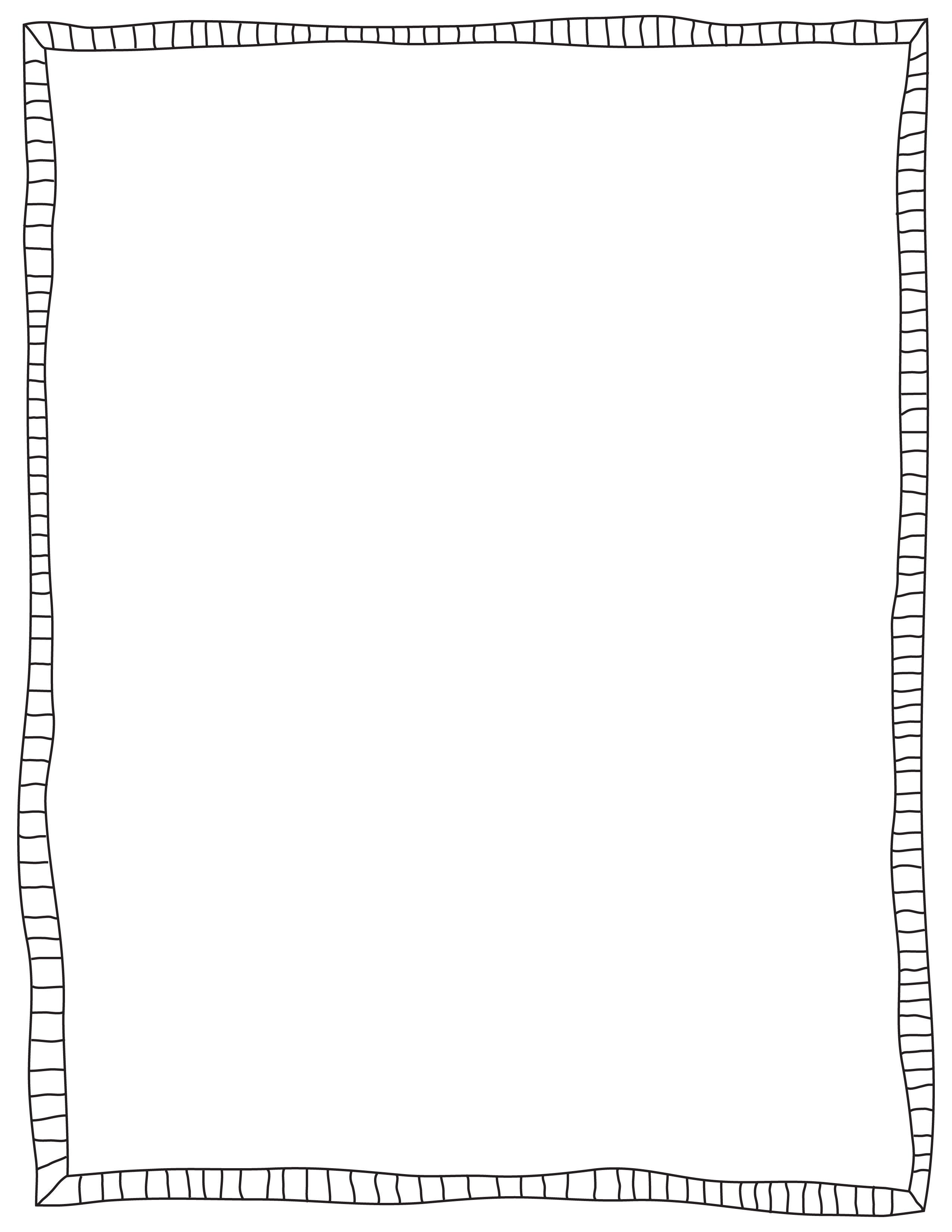 Black Doodled Border Frame Freebie Download With Images