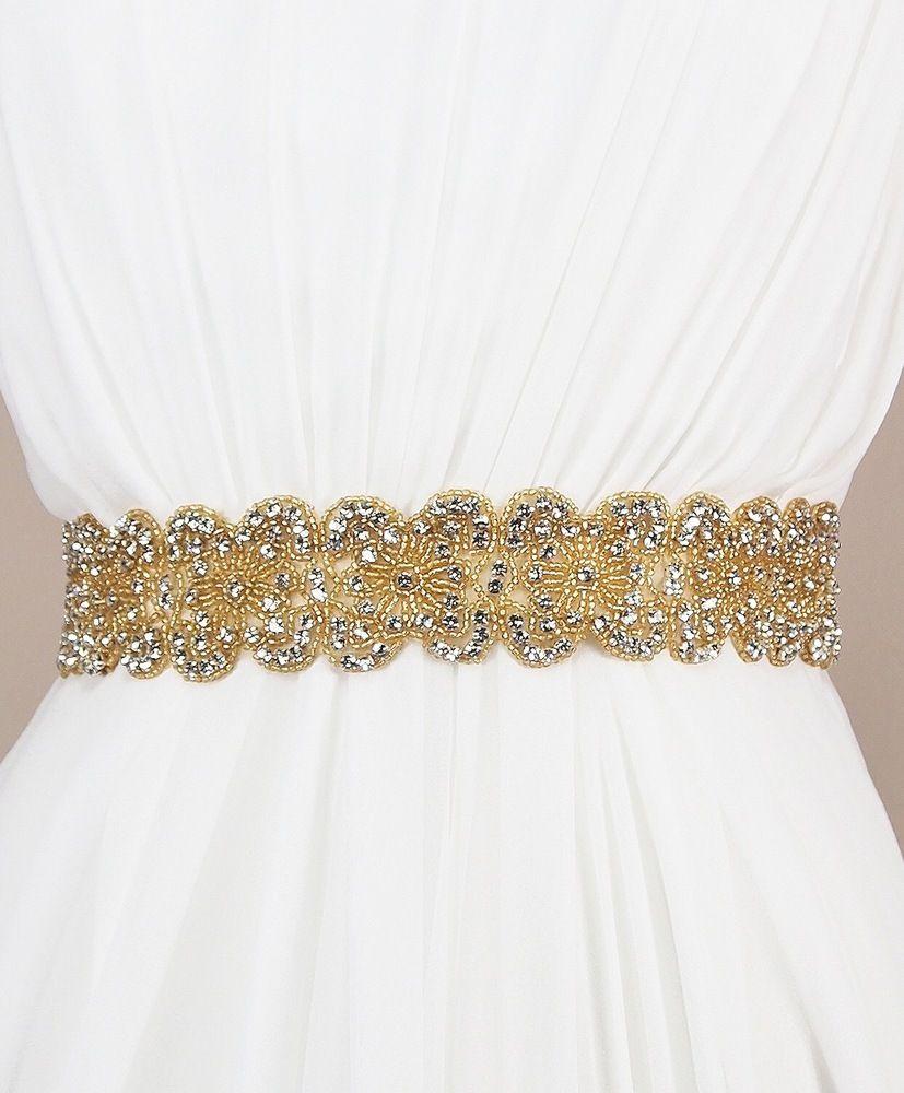 Malin Sash | Kirsten Kuehn || handmade crystal bridal sashes & embellished accessories