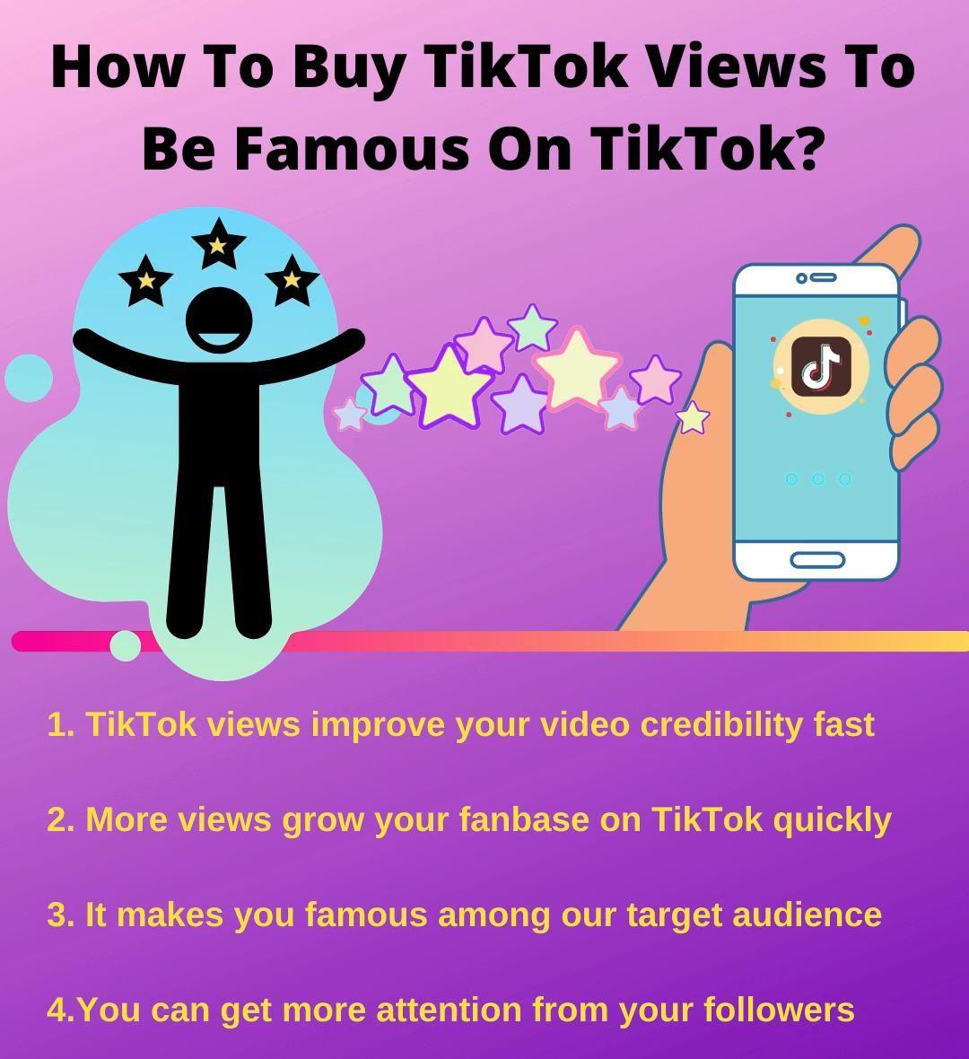 How To Buy Tiktok Views To Be Famous On Tiktok Video Social Media Social Media Services Music Videos