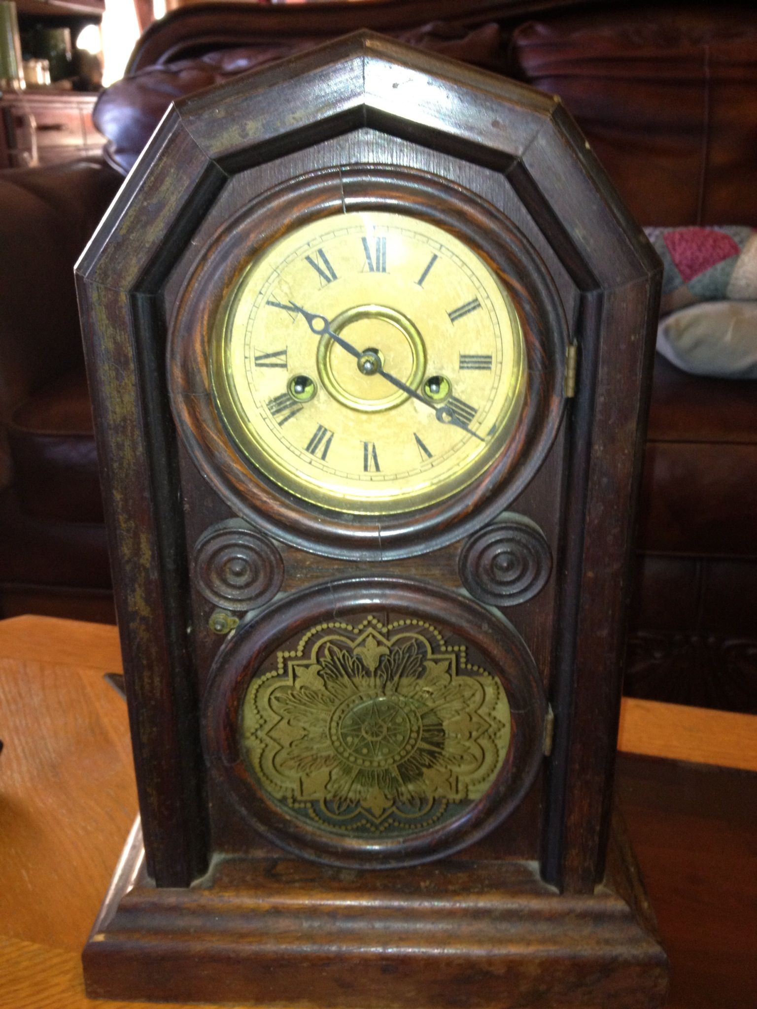 My first clock  E  Ingraham & Co  Ionic parlor clock ca  1860