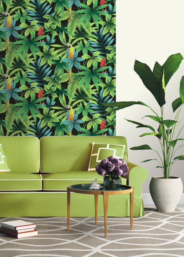 papier peint tropical notre s lection pour une d co exotique tropical interior interiors. Black Bedroom Furniture Sets. Home Design Ideas