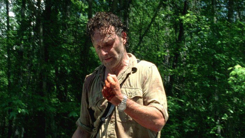 Rick inmune al agente zombificador