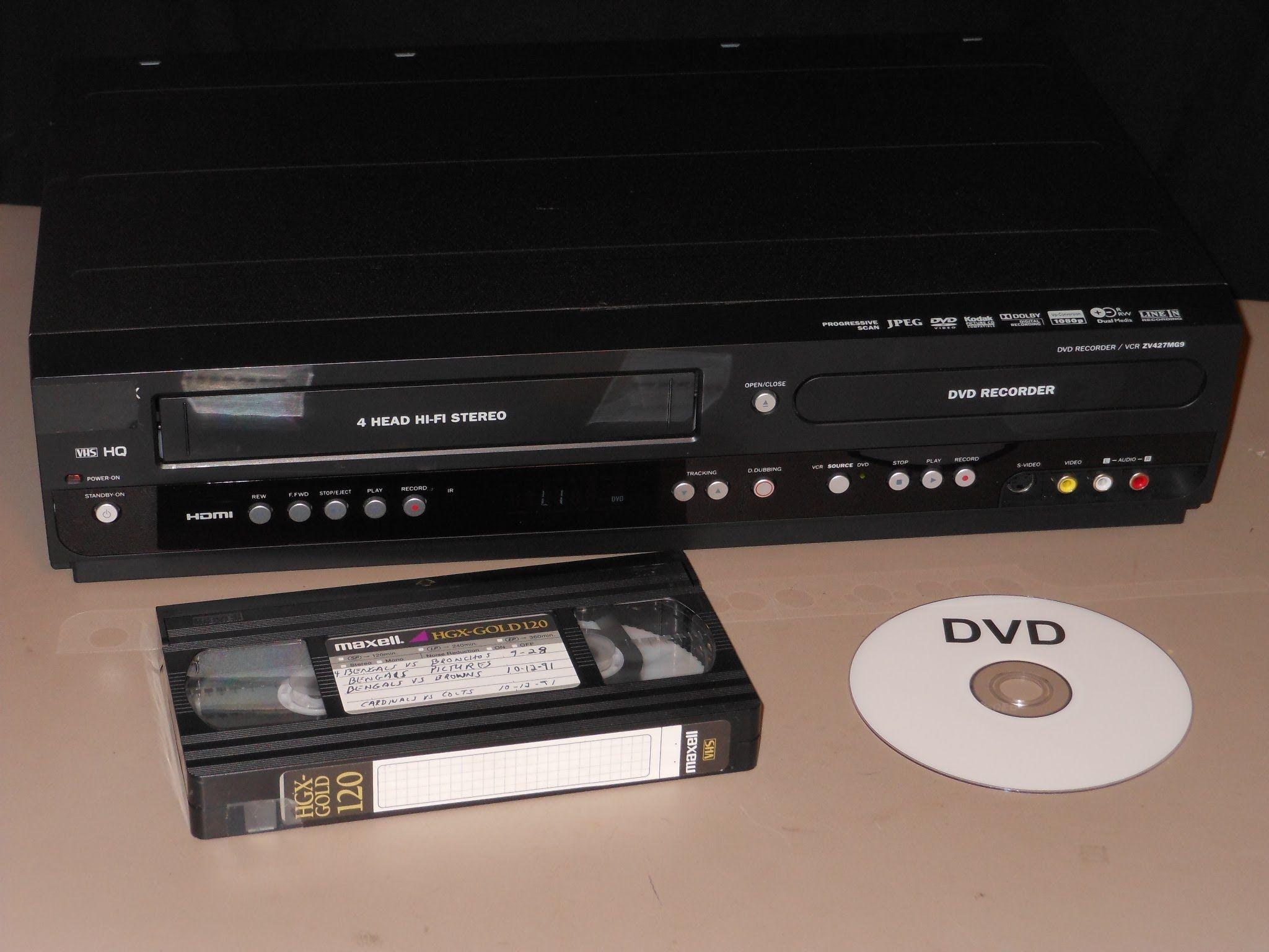 vhs transfer to dvd using combo recorder makerspace pinterest rh pinterest com Sharp VCR GE VCR