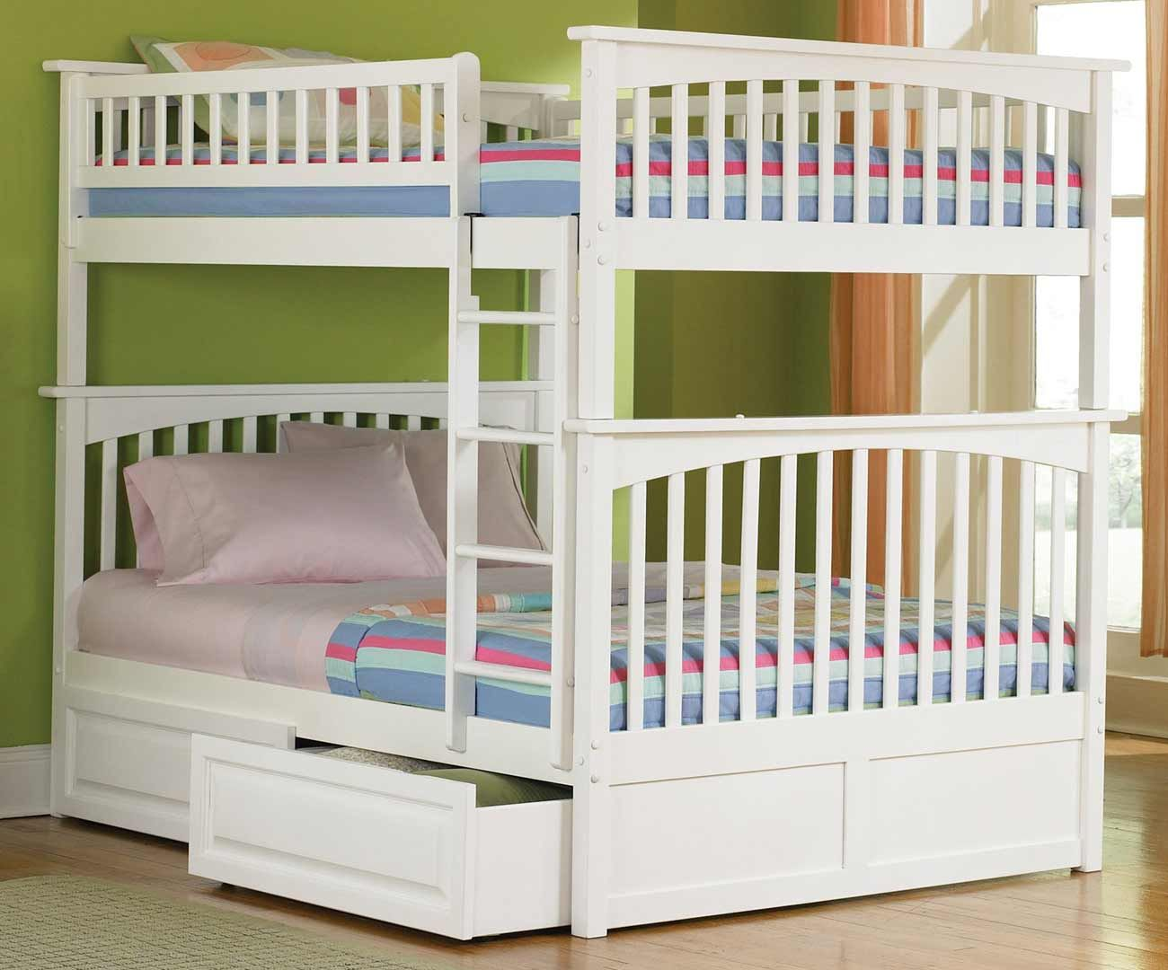 Triple bunk beds for teenagers - Teen Room Ideas For Girls With Bunkbeds Columbia Full Size White Bunk Beds For Teens