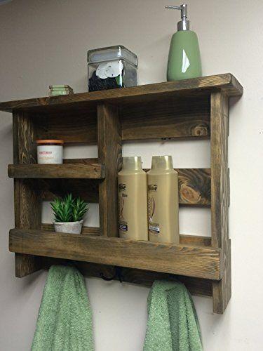 bathroom shelf rustic bath towel rack