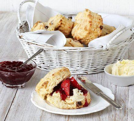 Buttermilk Sultana Scones Recipe Bbc Good Food Recipes Clotted Cream Food