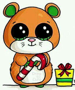 Hamster Cute Natal 365 Dessins Kawaii Animaux Kawaii Et