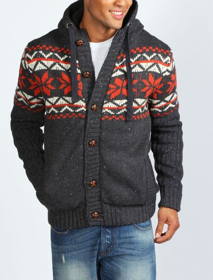 Mens Fair Isle Sweater Knitting Patterns : Fair Isle Cardigan Sweater Men Fair Isle sweaters get their name from an isla...