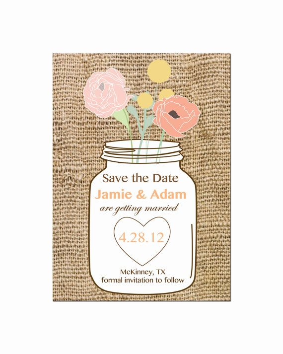 mason jar save the date