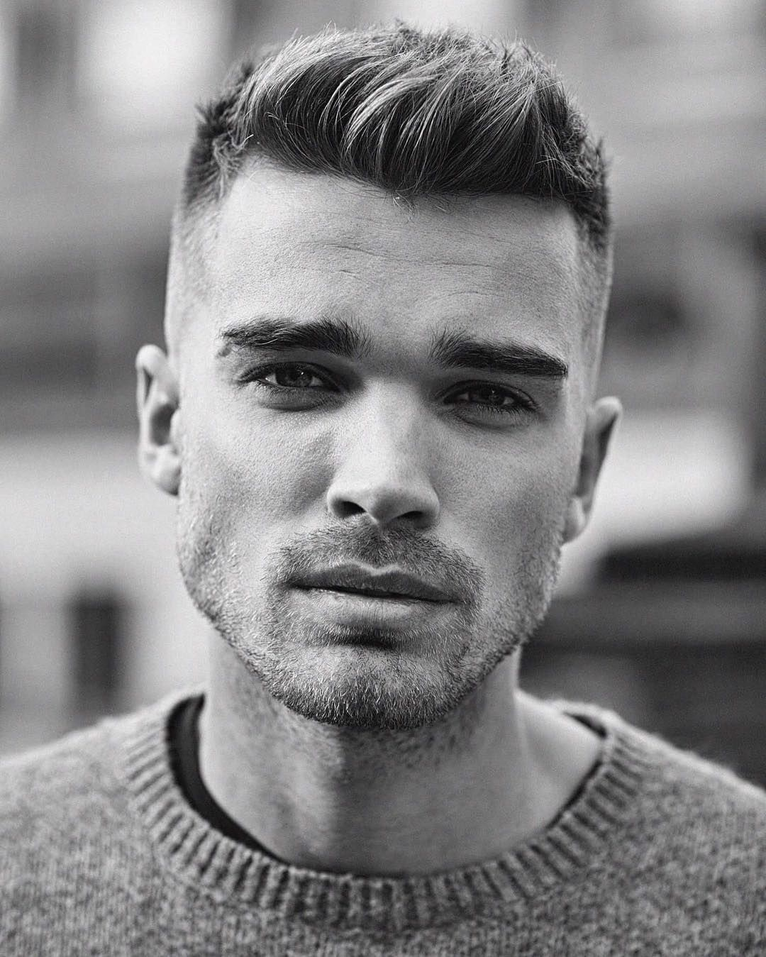 Young Mens Haircuts Side Sweep Hair High Fade And Side Swept - Swept hairstyle men