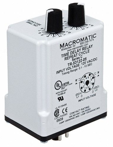 Macromatic Time Delay Relay TR-55122-14, silver | Products ... on macromatic alternating relay, abb alternating relay, delay timer relay, macromatic phase monitor relay,
