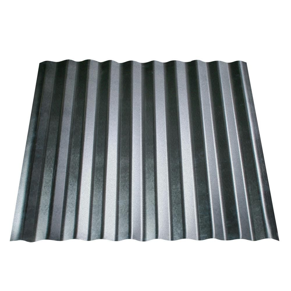 Metal Sales 10 Ft X 2 1 2 In Corrugated Metal Roof Panel In Galvalume Hd2141910 The Ho In 2020 Corrugated Metal Roof Panels Corrugated Metal Roof Metal Roof Panels