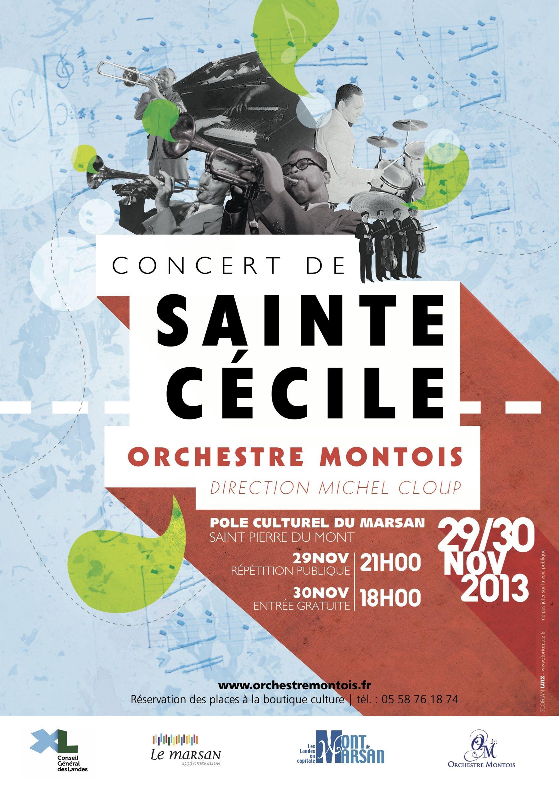 Affiche Concert affiche concert sainte-cécile 2013 | affiches hsp | pinterest